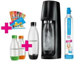 Sodastream Easy Vorteilspack Hama Kombi Wassersprudler mit Zubehör + Wassersprühventilator