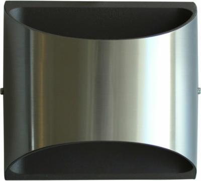 LUTEC LED-Außenwandleuchte Edelstahl