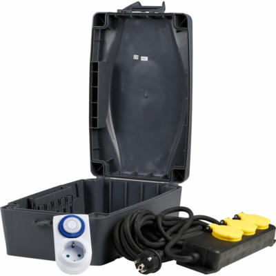 Wetterschutzbox incl. 3-fach Steckdosenleiste 8 m