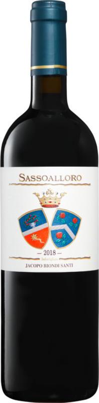 Jacopo Biondi Santi Sassoalloro Rosso Toscana IGT, 2018, Toskana, Italien, 75 cl