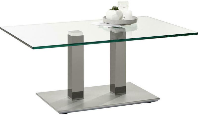 Couchtisch in Metall, Glas 110/70/46-65 cm