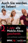 Quickline-Shop GAW 1 Jahr alle Mobile-Abos geschenkt. - al 31.07.2021
