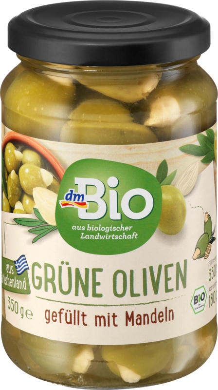 dmBio grüne Oliven mit Mandeln