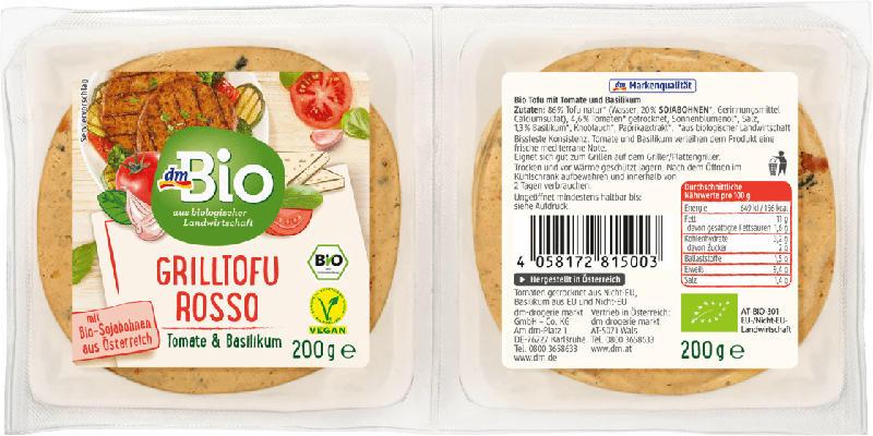 dmBio Grilltofu Rosso, Tomate & Basilikum
