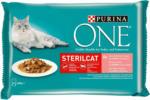 QUALIPET Purina ONE ONE Sterilcat Saumon en Sauce 4x85g