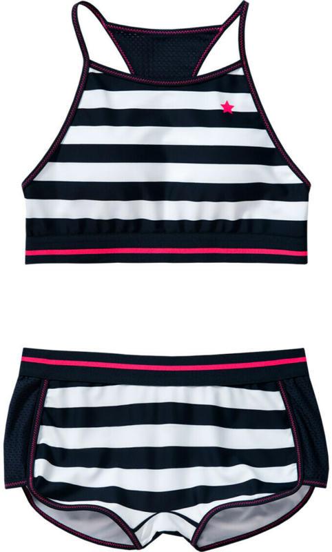 Mädchen Bikini im sportlich-maritimen Look (Nur online)