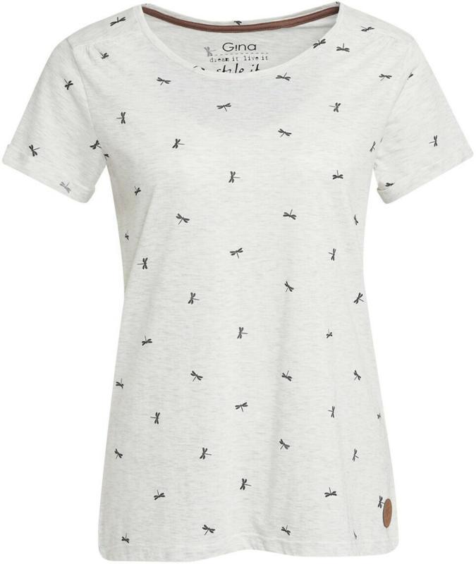 Damen T-Shirt mit Libellen-Allover (Nur online)