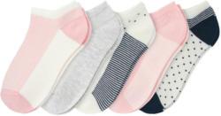 5 Paar Mädchen Sneaker-Socken im Set (Nur online)