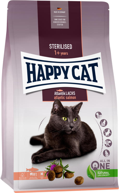 Happy Cat Croquettes Sterilised Saumon atlantique 4kg