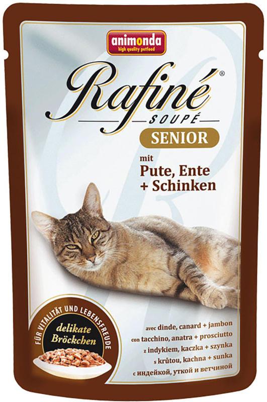 animonda Rafiné Soupé Senior Pute, Ente & Schinken 100g