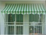 HELLWEG Baumarkt Klemmmarkise grün/weiß, 350 cm 350 cm