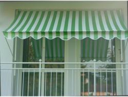 Klemmmarkise grün/weiß, 350 cm 350 cm