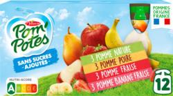 Materne Pom'Potes Trinkbeutel, assortiert, ohne Zuckerzusatz, 12 x 90 g