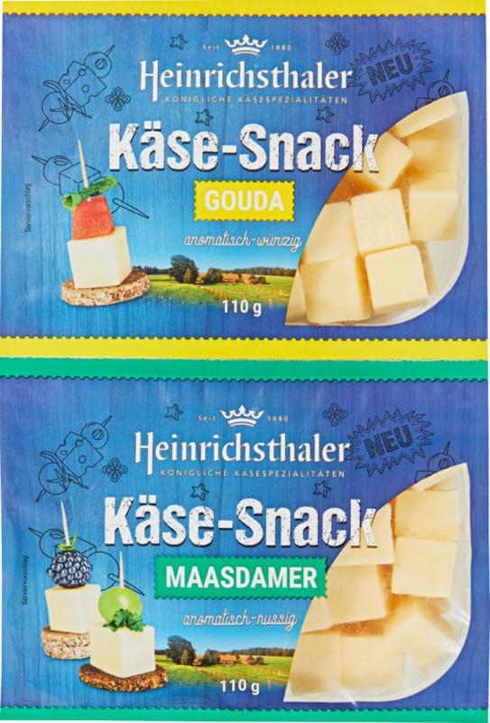 Dés de fromage Heinrichsthaler, Gouda & Maasdamer, 2 x 110 g