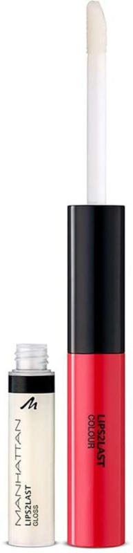 MANHATTAN Cosmetics Lipgloss Lips 2 Last Colour & Lipgloss Strawberry Pink 43H