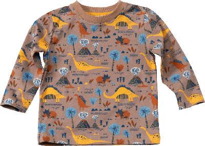 ALANA Kinder Langarmshirt, Gr. 92, in Bio-Baumwolle, braun, bunt