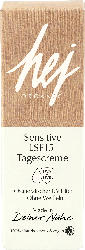 hej organic Tagescreme Sensitive LSF 15
