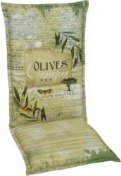 """Sessel-Auflage hoch """"Desin 2953 Olives"""", 120 cm 120 cm"""