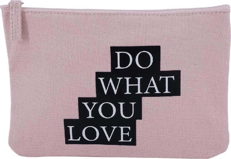 "Soapland Kosmetiktasche ""Do what you love"" rosa"