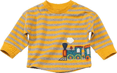 ALANA Baby Langarmshirt, Gr. 68, in Bio-Baumwolle, gelb