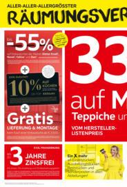 XXXLutz Flugblatt - Räumungsverkauf