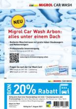 Migrol Car Wash Arbon: 20% Rabatt