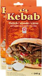 Viande de kebab , avec 2 sauces, 2 x 240 g