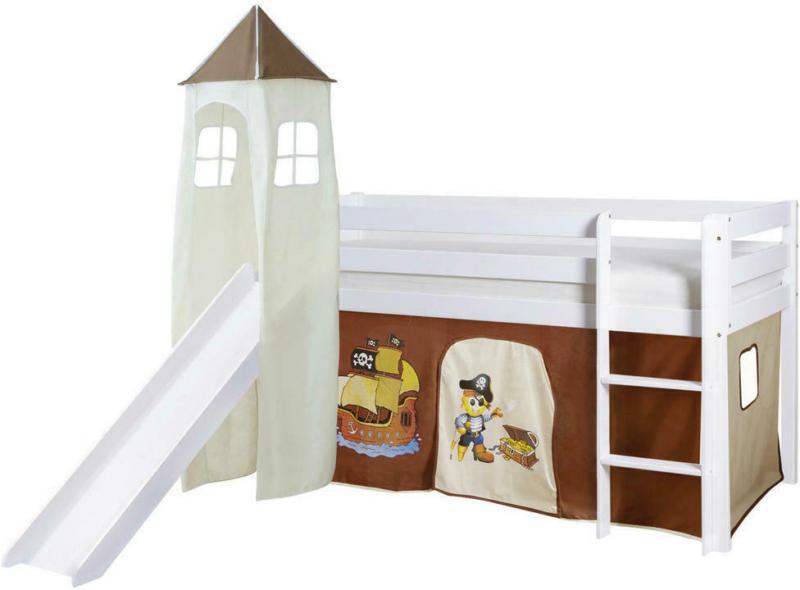Spielbett 90/200 cm in Braun, Weiß, Beige