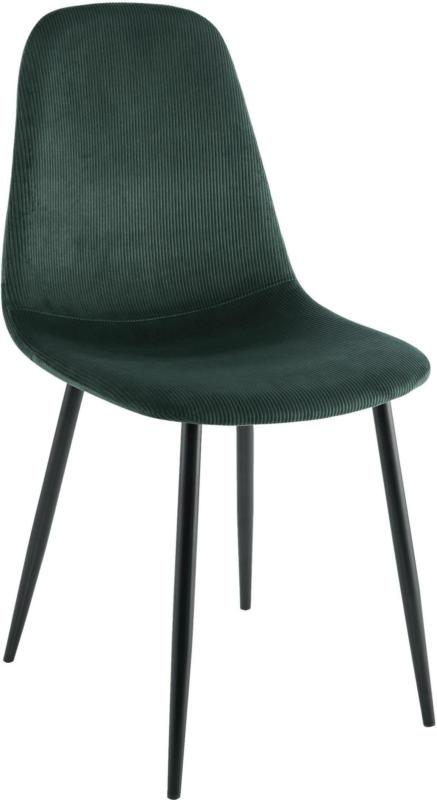 Stuhl aus Kord in Grün/Schwarz