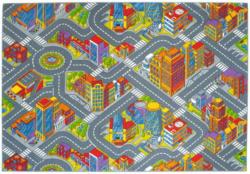 Tapis de jeu motif grande ville 140 x 200 cm -