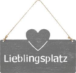 Dekorieren & Einrichten Metallschild mit Herz 'Lieblingsplatz'