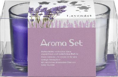 Dekorieren & Einrichten Duftkerzen mit Glas Lavendel 'Aroma-Set'