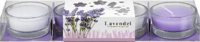 Dekorieren & Einrichten Duftlichte in Glasschale Lavendel