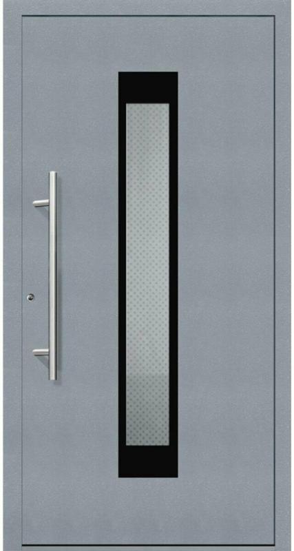 "Aluminium Sicherheits-Haustür ""Salerno Exklusiv"", 75mm, grau, 100x210 cm, Anschlag links, inkl. Griffset links"