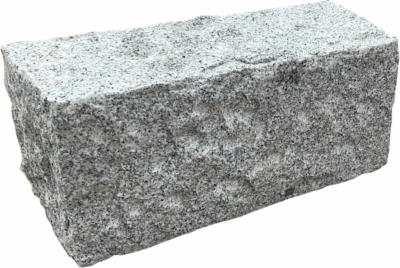 Granit Mauerstein Grau allseits gespalten 14 cm x 16 cm x 35 cm