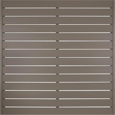 Andrewex Sichtschutzzaunelement Faro Grau lackiert 180 cm x 180 cm