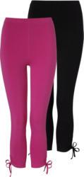 2 7/8 Damen Leggings mit seitlicher Raffung (Nur online)