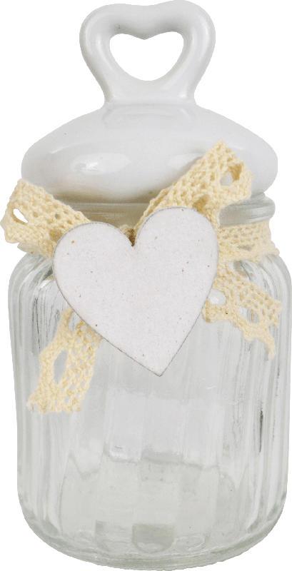 Dekorieren & Einrichten Glasvorratsdöschen mit Herzdeckel