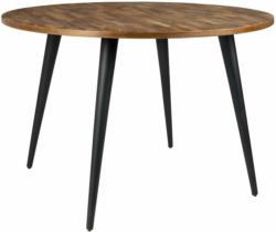 Zuiver Tisch Mo Teak und Schwarz