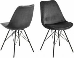 Eris Stuhl Sitzschale dunkelgrau velvet