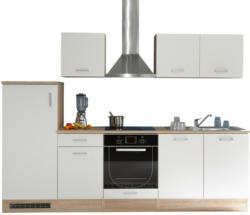 Bega Küchenblock ANDREW Weiß/Sonoma Eiche Nachbildung