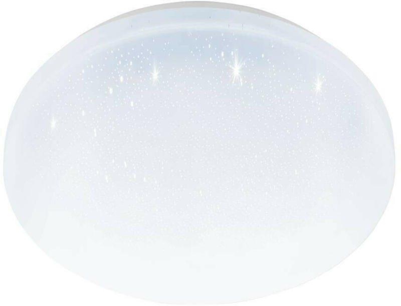 LED Deckenleuchte mit Kristalleffekt Weiß Stahl D26cm