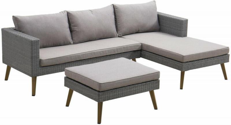 Lounge Set Grau, 3-tlg.