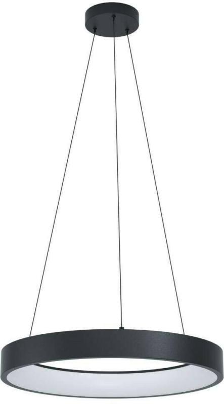LED Pendelleuchte Schwarz, Stahl D60cm