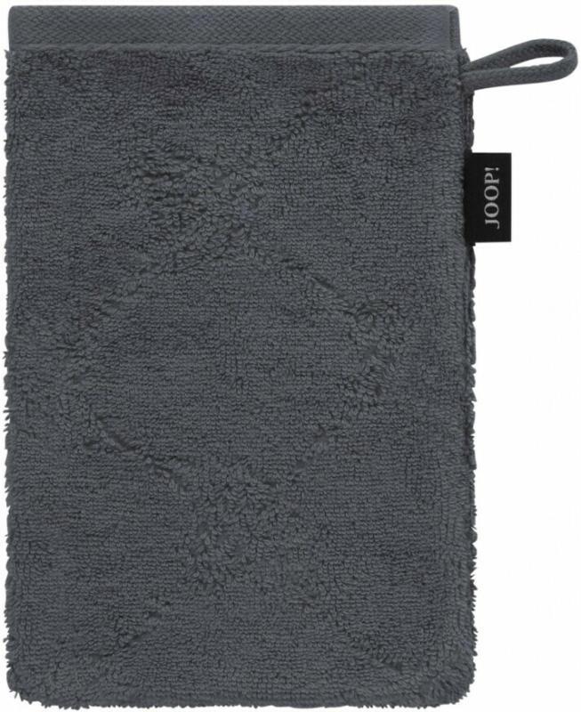 JOOP Waschhandschuh Uni Cornflower Anthrazit 16x22 cm