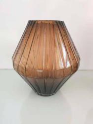 Vase Glas Braun transparent