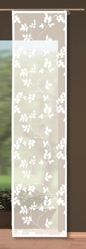 Flächenvorhang Blätter Weiß