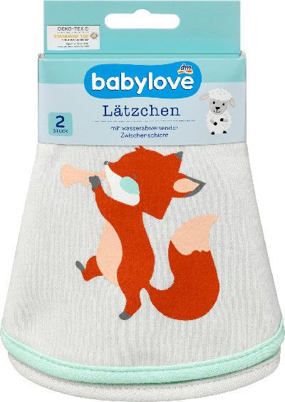 babylove Lätzchen aus Stoff Fuchs