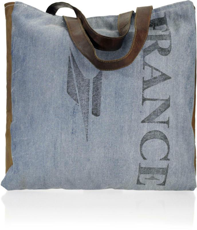 Handtasche in Blau 'France'  ca.40x46cm