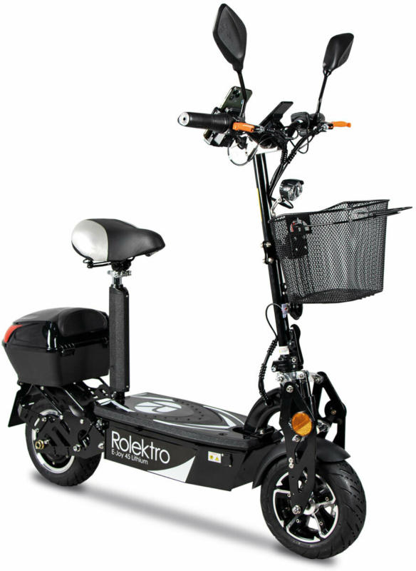 "E-Scooter ""E-Joy 45"" Schwarz, 48 V-20 AH Akku, 1000 W"